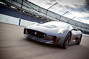 Testing of Jaguar's C-X75 at Rockingham Raceway.