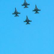 NLD/Den Haag/20180831 - Koninklijke Willems orde voor vlieger Roy de Ruiter, F-16's