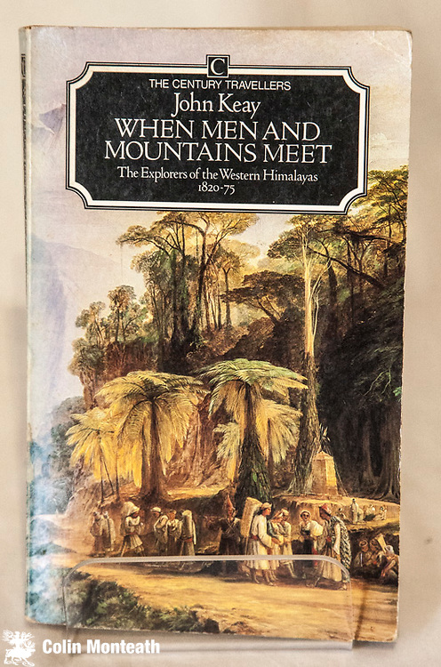 WHEN MEN AND MOUNTAINS MEET - The explorers of the western himalaya 1820-75, 275 page softbound, faded spine, otherwise good, binding tight - great history by a master story teller - $22 (Arnold Heine collection)