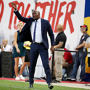 HARRISON, NEW JERSEY- AUGUST 25: Patrick Vieira, head coach of New York City FC on the sideline during the New York Red Bulls Vs New York City FC MLS regular season match at Red Bull Arena, Harrison, New Jersey on August 25, 2017 in Harrison, New Jersey. (Photo by Tim Clayton/Corbis via Getty Images)