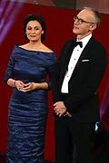 Sandra Maischberger und Christoph Suess. Verleihung 41. Bayerischer Filmpreis 2019 am 17.01.2020 im Prinzregententheater München.