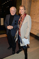SIR DAVID JASON and his wife GILL HINCHCLIFE at the opening night of Cirque du Soleil's award-winning production of Quidam at the Royal Albert Hall, London on 7th January 2014.