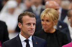Emmanuel Macron inducted as honorary canon of The Basilica of St.John's - Rome - 26 June 2018