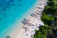 Aerial photograph of Lanikai Beach, Kailua Bay, Oahu, Hawaii