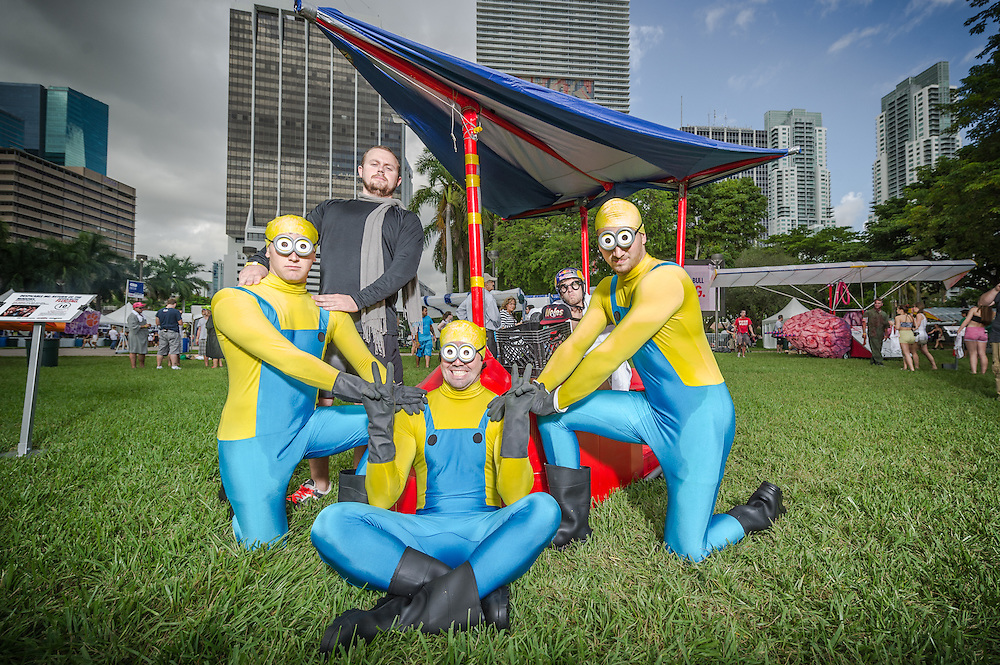 Despicable Me: Return of the Minions poses for a portrait at the Red Bull Flugtag in Miami, FL, USA, on 21 September 2013.