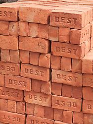 Bricks at building site, Mysore