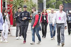 May 13, 2018 - Barcelona, Spain - Red Bull Racing driver Daniel Ricciardo (3) of Australia arrive to F1 Grand Prix celebrated at Circuit of Barcelona 13th May 2018 in Barcelona, Spain. (Credit: Urbanandsport / NurPhoto) (Credit Image: © Urbanandsport/NurPhoto via ZUMA Press)