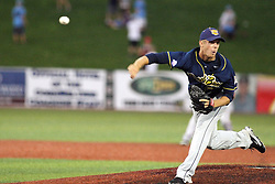11 July 2012:  Reid Kelly (Traverse City Beach Bums) during the Frontier League All Star Baseball game at Corn Crib Stadium on the campus of Heartland Community College in Normal Illinois