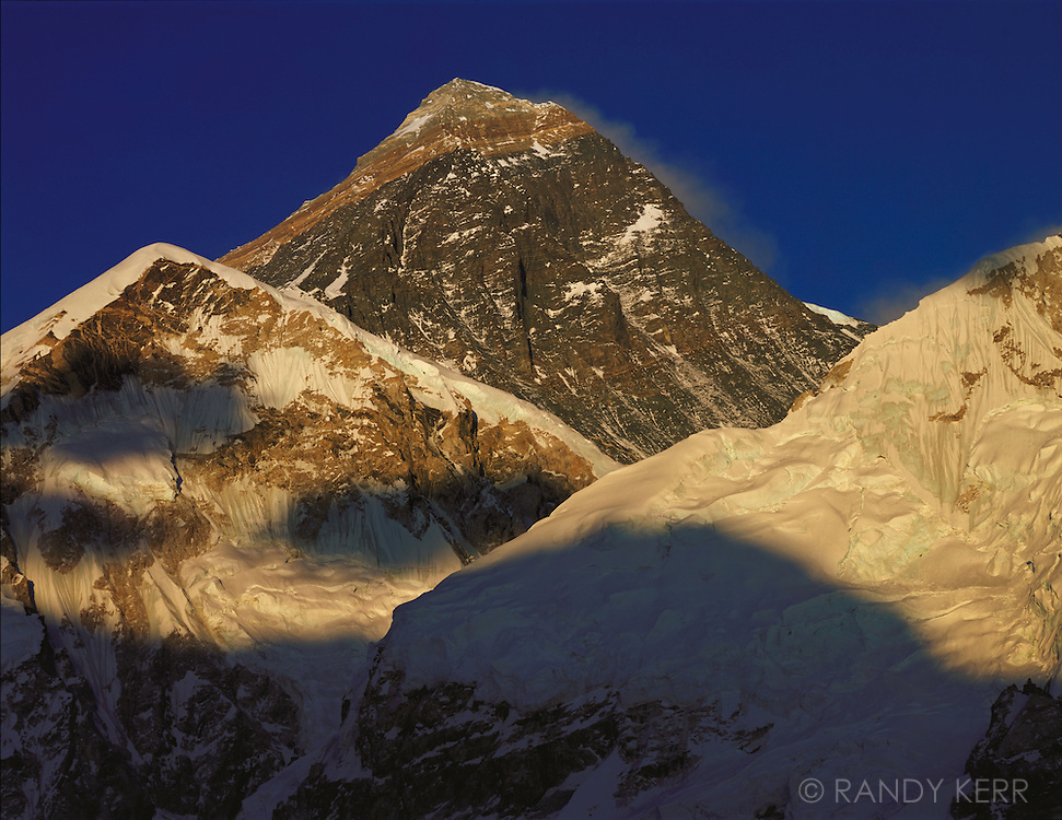 Mount Everest with shadows