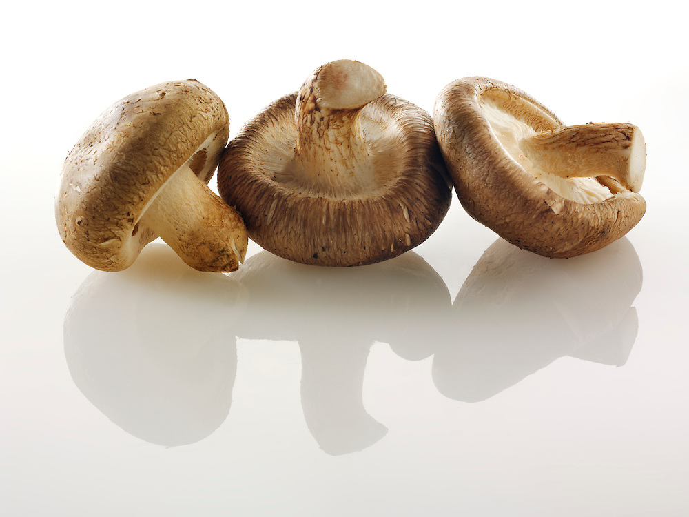 Raw  fresh organic Shiitake  mushrooms