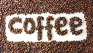 """Coffee beans spelling the word """"coffee"""""""