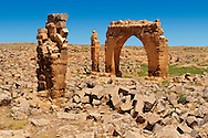 """Pictures of the the ruins of the 8th century University of  Harran, south west Anatolia, Turkey.  Harran was a major ancient city in Upper Mesopotamia whose site is near the modern village of Altınbaşak, Turkey, 24 miles (44 kilometers) southeast of Şanlıurfa. The location is in a district of Şanlıurfa Province that is also named """"Harran"""". Harran is famous for its traditional 'beehive' adobe houses, constructed entirely without wood. The design of these makes them cool inside. 50 .<br /> <br /> If you prefer to buy from our ALAMY PHOTO LIBRARY  Collection visit : https://www.alamy.com/portfolio/paul-williams-funkystock/harran.html<br /> <br /> Visit our TURKEY PHOTO COLLECTIONS for more photos to download or buy as wall art prints https://funkystock.photoshelter.com/gallery-collection/3f-Pictures-of-Turkey-Turkey-Photos-Images-Fotos/C0000U.hJWkZxAbg ."""