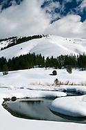 Winter Stream, Salt Creek, Wyoming Range, south of Afton Wyoming.