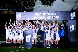 England Women celebrate winning the Women's Six Nations - Mandatory by-line: Robbie Stephenson/JMP - 16/03/2019 - RUGBY - Twickenham Stadium - London, England - England Women v Scotland Women - Women's Six Nations