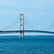 Mackinac Bridge As Viewed from Mackinac City