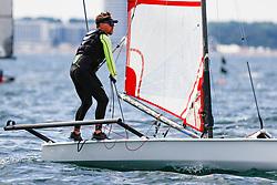 , Travemünde - Mövensteinregatta 07. - 09.08.2020, Musto Skiff - GER 411 - Max DÖHLER - Lübecker Yacht-Club e. V