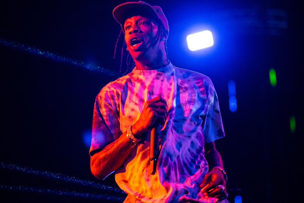 Travis Scott performing at the Made In America Festival in Philadelphia, PA on September 1, 2019.