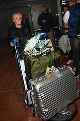 Claire Denis arriving at Nice Airport ahead of Cannes Film Festival in Nice, France on May 16, 2019. Photo by Julien Reynaud/APS-Medias/ABACAPRESS.COM