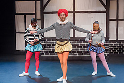 Welcome to the mad, bad, sad world of the Bard – Commedia style… Much dell'Arte About Nothing is a hilarious mash-up of Shakespeare's works, presented in the Commedia dell'Arte tradition. Utilising slapstick, masks, stage combat, dance and stock characters, watch familiar Shakespearean references be transformed and invigorated – all with a good dose of irreverence!<br /> <br /> Cast<br /> Emily McGowan<br /> Nicholas O'Regan<br /> George Zhao<br /> <br /> Director, Scott Parker<br /> Design and Realisation, Aleisa Jelbart<br /> Dramaturg and Sound Design, Kathryn Parker<br /> Lighting Design, Martin Kinnane<br /> Movement Director, Nicholas O'Regan<br /> Production Manager, Faith Treacy<br /> <br /> Photos by Robert Catto, on Monday 12 September, 2016 at Lend Lease Theatre in Darling Harbour, Sydney.