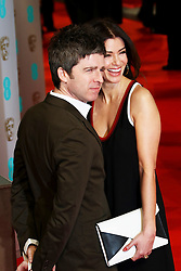 © London News Pictures. Noel Gallagher, Sara Macdonald, EE British Academy Film Awards (BAFTAs), Royal Opera House Covent Garden, London UK, 08 February 2015, Photo by Richard Goldschmidt /LNP