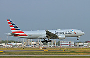 N755AN American Airlines, Boeing 777 at Malpensa airport, Milan, Italy