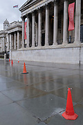 The day after the government introduced a third Coronavirus pandemic national lockdown, effectively a Tier 5 restriction, Arts institutions such as the National Gallery in Trafalgar Square, remain closed to the public, as the capital experiences a grim post-Christmas and millions of Britons are told to stay at home, on 5th January 2021, in London, England.