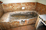 An Interior picture of the bathroom at Maryvale farmhouse which had been looted and destroyed by Zimbabweans trying to oust the local white farmers from Zimbabwe.