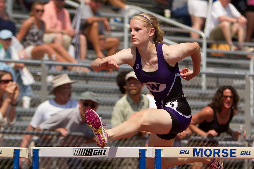Girls 100 Hurdles; Maine State Track & FIeld Meet - Class B