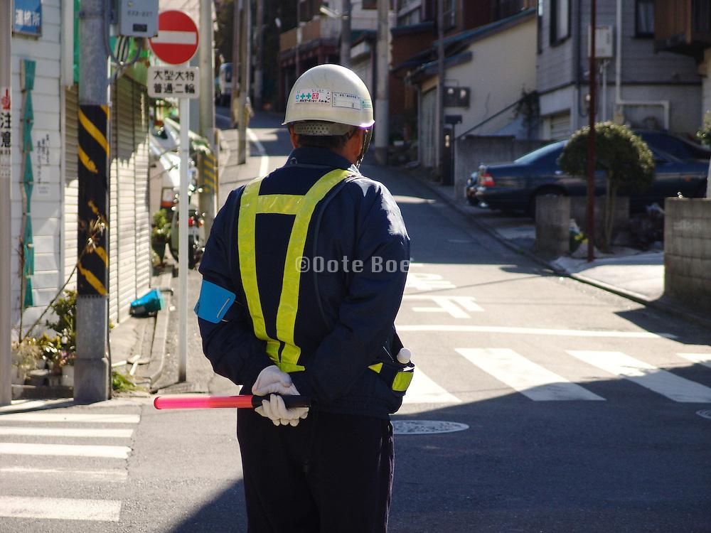 construction traffic regulator Japan