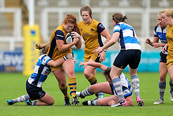 Kayleigh Armstrong of Bristol Ladies - Rogan Thomson/JMP - 08/10/2016 - RUGBY UNION - Kingston Park - Newcastle, England - Darlington Mowden Park Sharks v Bristol Ladies Rugby - RFU Women's Premiership.