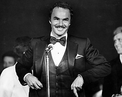 File photo - Burt Reynolds talking before a crowd on Nov. 22, 1982. 1970s' movie heartthrob and Oscar nominee Burt Reynolds has died at the age of 82. He reportedly passed away in a Florida hospital from a heart attack with his family by his side. Photo by Joe Willis/Sun Sentinel/TNS/ABACAPRESS.COM