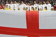Team of England during anthems before the 2018 FIFA World Cup Russia, semi-final football match between Croatia and England on July 11, 2018 at Luzhniki Stadium in Moscow, Russia - Photo Thiago Bernardes / FramePhoto / ProSportsImages / DPPI