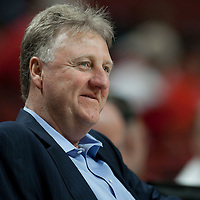 16 April 2011: Former American NBA basketball player and coach, and President of basketball operations for the Pacers, Larry Bird is seen prior to the Chicago Bulls 104-99 victory over the Indiana Pacers, during the game 1 of the Eastern Conference first round at the United Center, Chicago, Illinois, USA.