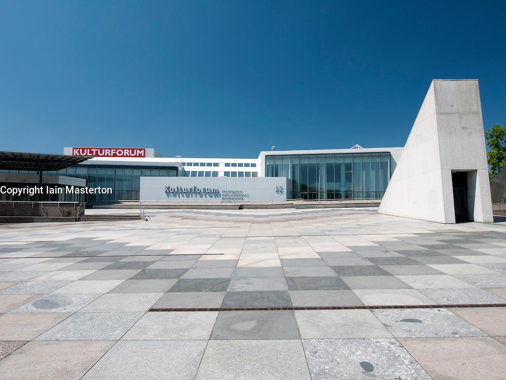 Exterior of Kulturforum museum complex in Berlin Germany