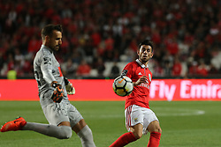 September 8, 2017 - Lisbon, Lisbon, Portugal - Portimonenses goalkeeper Ricardo Ferreira from Portugal  (L) and Benficas midfielder Pizzi from Portugal (R) during the Premier League 2017/18 match between SL Benfica v Portimonense SC, at Luz Stadium in Lisbon on September 8, 2017. (Credit Image: © Dpi/NurPhoto via ZUMA Press)