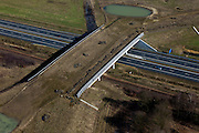 Nederland, Limburg, Gemeente Beesel, 07-03-2010; ten noorden van Swalmen, ecoduct A73-Zuid (Rijksweg A73)..North of Swalmen, ecoduct A73 South (highway A73)..luchtfoto (toeslag), aerial photo (additional fee required).foto/photo Siebe Swart