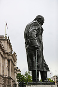 British authorities unboxed the Winston Churchill statue in Parliament Square in central London on Thursday, June 18, 2020, prior to a visit of the French President Emmanuel Macron to London. For his first foreign trip since lockdown, Emmanuel Macron will be in London to mark the 80th anniversary of de Gaulle's « appel de Londres », as well as cement Franco-UK ties at a strained time due to Brexit. A joint French and British jet flypast is announced to be performed at 5pm. (Photo/ Vudi Xhymshiti)