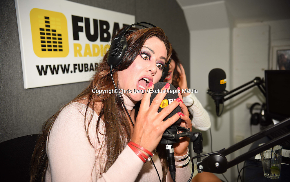 EXCLUSIVE<br /> Lisa Appleton and Lizzie Cundy at Fubar Radio<br /> ©Chris Dean/Exclusivepix Media
