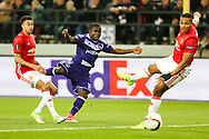 Anderlecht's Frank Acheampong has a shot during the Europa League Quarter Final 1st leg match at RSCA Constant Vanden Stock Stadium, Anderlecht, Belgium. Picture date: April 13th, 2017.Pic credit should read: Charlie Forgham-Bailey/Sportimage