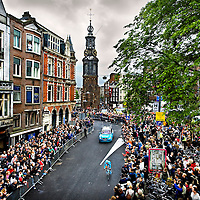 The Netherlands, Amsterdam, 08-05-2010.<br /> Cycling, Giro d'Italia, Prologue.<br /> The streets nearby the Munt square in Amsterdam are very crowded with spectators during the prologue.<br /> Photo : Klaas Jan van der Weij