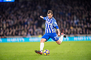 Brighton and Hove Albion (29) Markus Suttner during the Premier League match between Brighton and Hove Albion and Crystal Palace at the American Express Community Stadium, Brighton and Hove, England on 28 November 2017. Photo by Sebastian Frej.