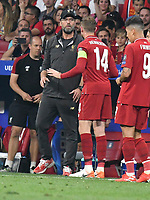 Football - 2019 UEFA Champions League Final - Liverpool vs. Tottenham Hotspur<br /> <br /> Liverpool manager Jurgen Klopp & Jordan Henderson of Liverpool on the touchline, at Wanda Metropolitano, Madrid.<br /> <br /> COLORSPORT/WINSTON BYNORTH