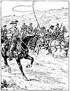 Boer prisoners under escort being taken to the coast for deportation. 2nd Boer War 1899-1902.