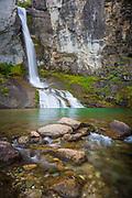El Chorillo del Salto waterfall near El Chalten in the Argentinian part of Patagonia