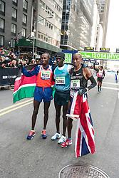 NYRR New York City Half Marathon: top three finishers Mutai, Sambu, Farah