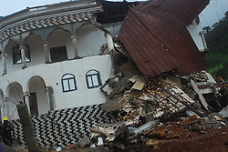 Aug. 14, 2017 - A house destroyed by mudslide in Freetown, capital of Sierra Leone. Over 200 corpses have been taken to the hospital after a heavy downpour caused mudslides in Freetown, Head of the Connaught Hospital Motuary, Sinneh Kamara, said here Monday. (Credit Image: © Xinhua via ZUMA Wire)