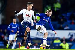 Tom Davies of Everton takes on Erik Lamela of Tottenham Hotspur - Mandatory by-line: Robbie Stephenson/JMP - 23/12/2018 - FOOTBALL - Goodison Park - Liverpool, England - Everton v Tottenham Hotspur - Premier League