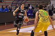Lorenzo Penna<br /> Ambalt Recanati - Virtus Segafredo Bologna<br /> Campionato Basket A2 LNP 2016/2017<br /> Ancona, 03/12/2016<br /> Foto Ciamillo-Castoria