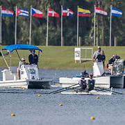 Chris Harris and John Storey New Zealand Mens Double Scull<br /> <br /> Semi-Finals races at the World Championships, Sarasota, Florida, USA Friday 29 September 2017. Copyright photo © Steve McArthur / Rowing NZ