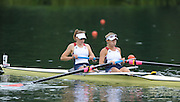 Lucerne, SWITZERLAND, USA W2- Bow Mara ALLEN and Erin CAFARO, move away from the start, of the third round of the   2009 FISA World Cup,  on the Rottsee regatta Course, Friday  10/07/2009 [Mandatory Credit Peter Spurrier/ Intersport Images]